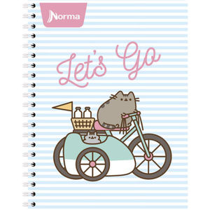Pusheen Cat Blank Square School Office Notebook 🆕